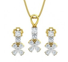 Diamond Pendant Half Set - 0.74 CT / 3.21 gm Gold