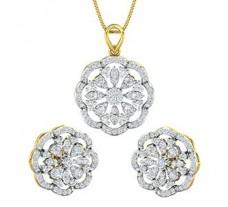 Diamond Pendant Half Set - 2.14 CT / 10.78 gm Gold