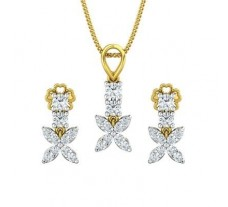 Diamond Pendant Half Set - 0.83 CT / 3.38 gm Gold