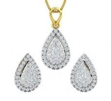 Diamond Pendant Half Set - 1.32 CT / 5.50 gm Gold