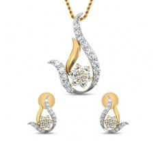 Natural Diamond Pendant Half Set - 0.51 CT / 3.65 gm Gold