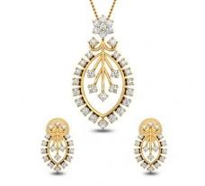 Natural Diamond Pendant  Half Set - 1.51 CT / 6.75 gm Gold