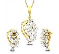 Natural Diamond Pendant Half Set - 0.72 CT / 5.41 gm Gold