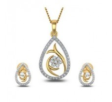 Natural Diamond Pendant Half Set - 0.65 CT / 5.40 gm Gold