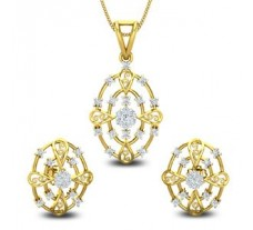 Diamond Pendant Half Set - 0.82 CT / 7.29 gm Gold