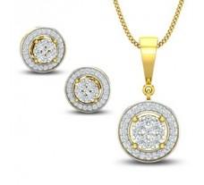 Natural Diamond Pendant Half Set - 0.84 CT / 5.65 gm Gold