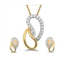 Diamond Pendant Half Set - 0.33 CT / 3.90 gm Gold