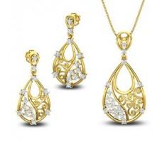 Diamond Pendant Half Set - 0.79 CT / 7.80 gm Gold
