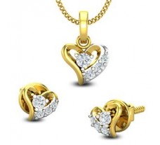 Diamond Pendant Half Set - 0.27 CT / 2.45 gm Gold