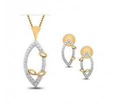 Diamond Pendant Half Set - 0.34 CT / 3.60 gm Gold