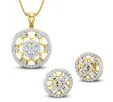 Diamond Pendant Half Set - 1.47 CT / 7.11 gm Gold