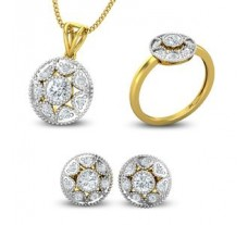 Diamond Pendant FullSet - 1.18 CT / 6.55 gm Gold