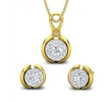 Natural Diamond Pendant Half Set - 0.57 CT / 2.99 gm Gold