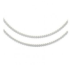 double line Diamond Necklace 5.53 CT / 43.00 gm Gold