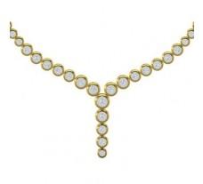 Single Line Diamond Necklace 3.74 CT / 47.00 gm Gold