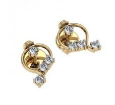 Diamond Earrings 0.20 CT /  2.41 gm Gold