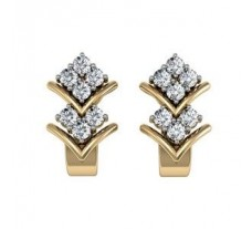 Diamond Earrings 0.35 CT /  3.23 gm Gold