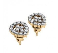 Diamond Earrings 0.84 CT / 12.88 gm Gold