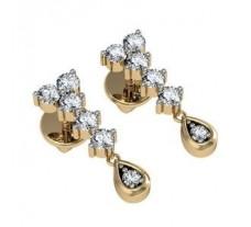 Diamond Earrings 0.34 CT / 3.23 gm Gold