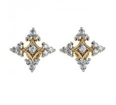 Diamond Earrings 0.84 CT /  5.33 gm Gold