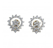 Diamond Earrings 1.02 CT / 4.55 gm Gold