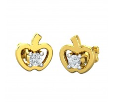 Natural Diamond Earrings 0.05 CT / 1.30 gm Gold