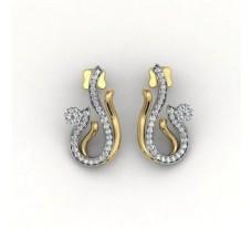 Diamond Earrings 0.96 CT / 3.6 gm Gold