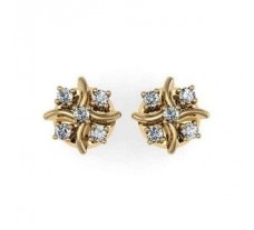 Diamond Earrings 0.15 CT / 2.22 gm Gold