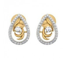 Natural Diamond Earrings 0.39 CT / 3.45 gm Gold