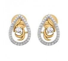 Diamond Earrings 0.39 CT / 3.45 gm Gold