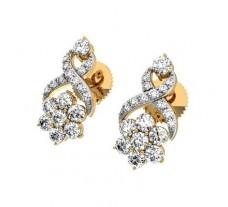 Natural Diamond Earrings 0.42 CT / 3.25 gm Gold