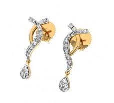 Natural Diamond Earrings 0.24 CT / 2.40 gm Gold
