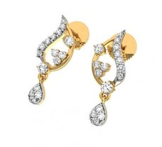 Natural Diamond Earrings 0.31 CT / 2.35 gm Gold