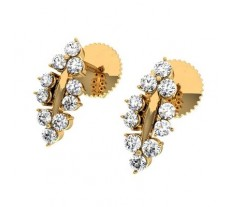 Natural Diamond Earrings 0.29 CT / 1.90 gm Gold