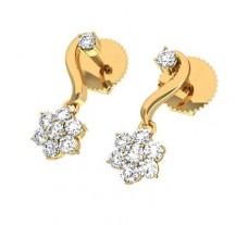 Natural Diamond Earrings 0.23 CT / 1.95 gm Gold