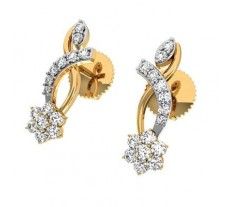Natural Diamond Earrings 0.42 CT / 2.36 gm Gold