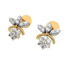 Natural Diamond Earrings 0.31 CT / 2.25 gm Gold