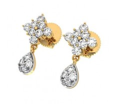 Natural Diamond Earrings 0.32 CT / 2.03 gm Gold