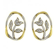 Natural Diamond Earrings 1.376 CT / 8.0 gm Gold