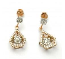 Natural Diamond Earrings 0.71 CT / 4.05 gm Gold