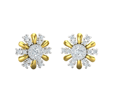 Natural Diamond Earrings 0.56 CT / 3.72 gm Gold