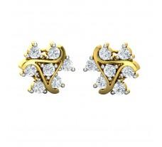 Natural Diamond Earrings 0.98 CT / 6.45 gm Gold
