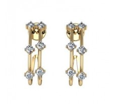 Diamond Earrings 0.36 CT /  2.93 gm Gold
