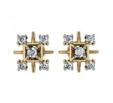 Diamond Earrings 0.34 CT / 2.93 gm Gold