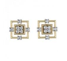 Diamond Earrings 0.32 CT / 4.09 gm Gold