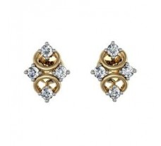 Diamond Earrings 0.20 CT / 2.76 gm Gold