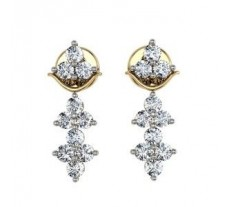 Diamond Earrings 0.50 CT / 3.60 gm Gold