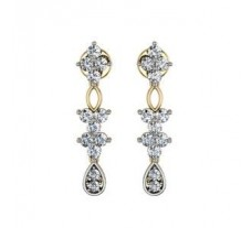 Diamond Earrings 0.77 CT / 3.95 gm Gold