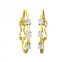 Natural Diamond Earrings 0.12 CT / 1.73 gm Gold