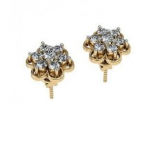 Diamond Earrings 0.90 CT / 7.32 gm GOLD
